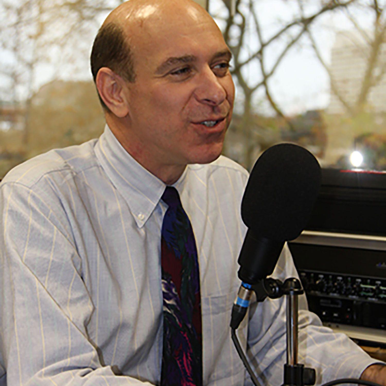 man on radio